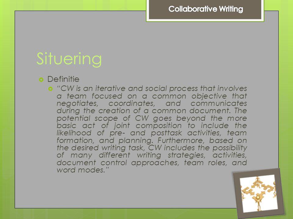 Taxonomie : rollen  Writer  Consultant  Editor  Reviewer  Team leader  Facilitator