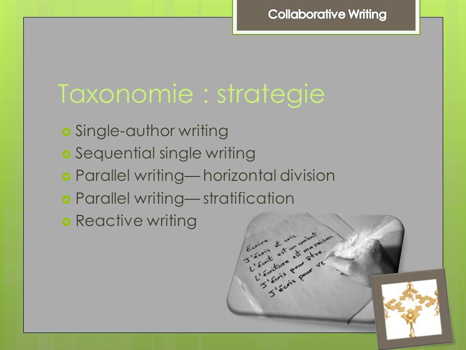 Strategie single - author writing  Single- author writing  Wanneer .