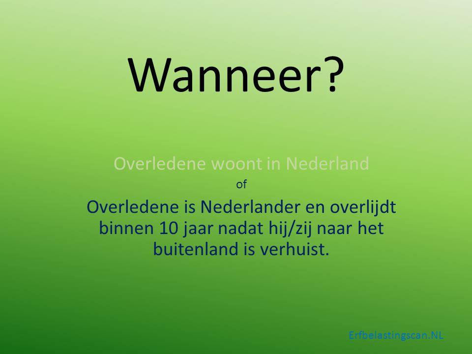 Aandachtspunten Erfbelastingscan.NL