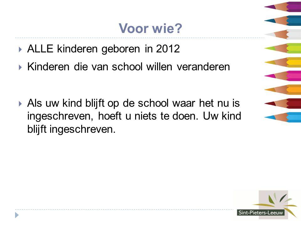 Inschrijven aangemelde leerlingen  Wanneer. Tussen 25 maart 2014 en 30 april 2014  Hoe.