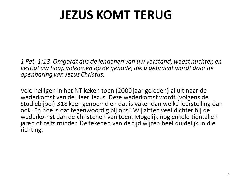 Twee grote gebeurtenissen voordat Jezus terugkomt • De komst van de antichrist (2 Thess.