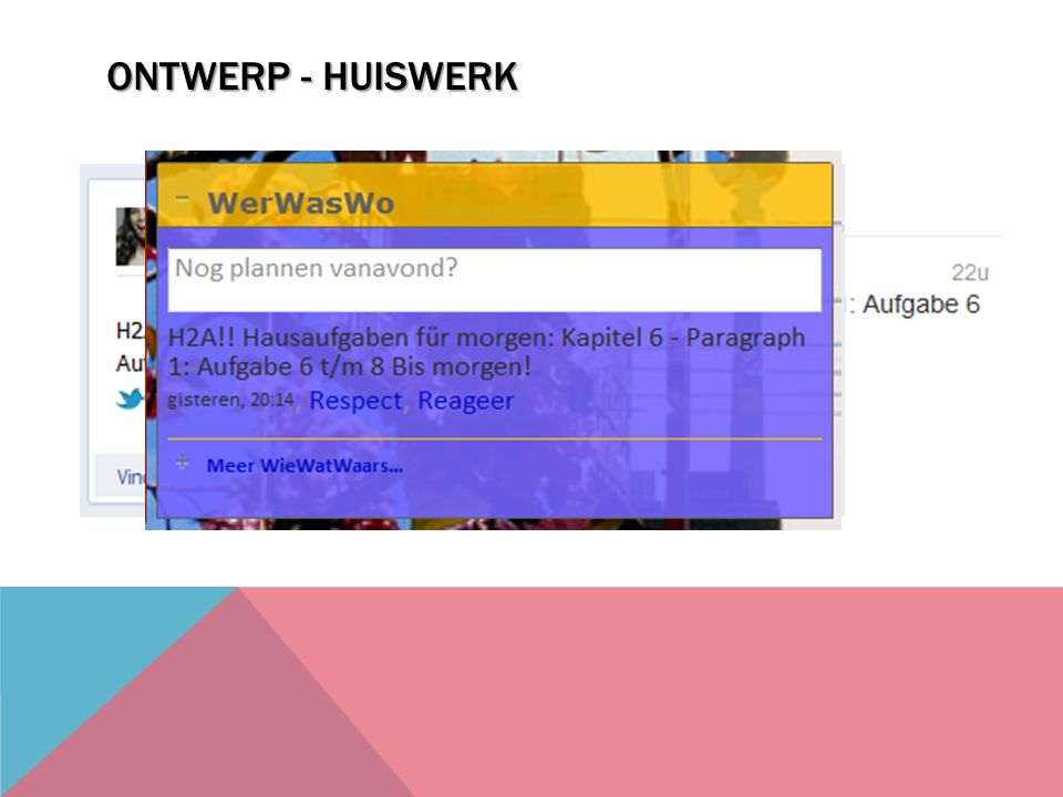 ONTWERP - HUISWERK