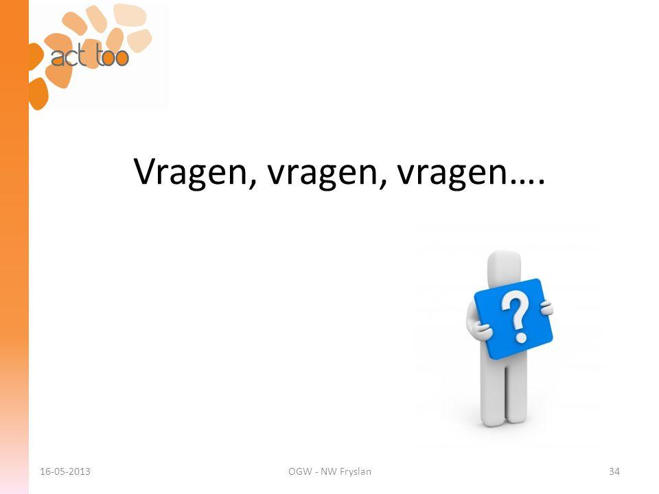 Vragen, vragen, vragen…. 16-05-2013OGW - NW Fryslan34