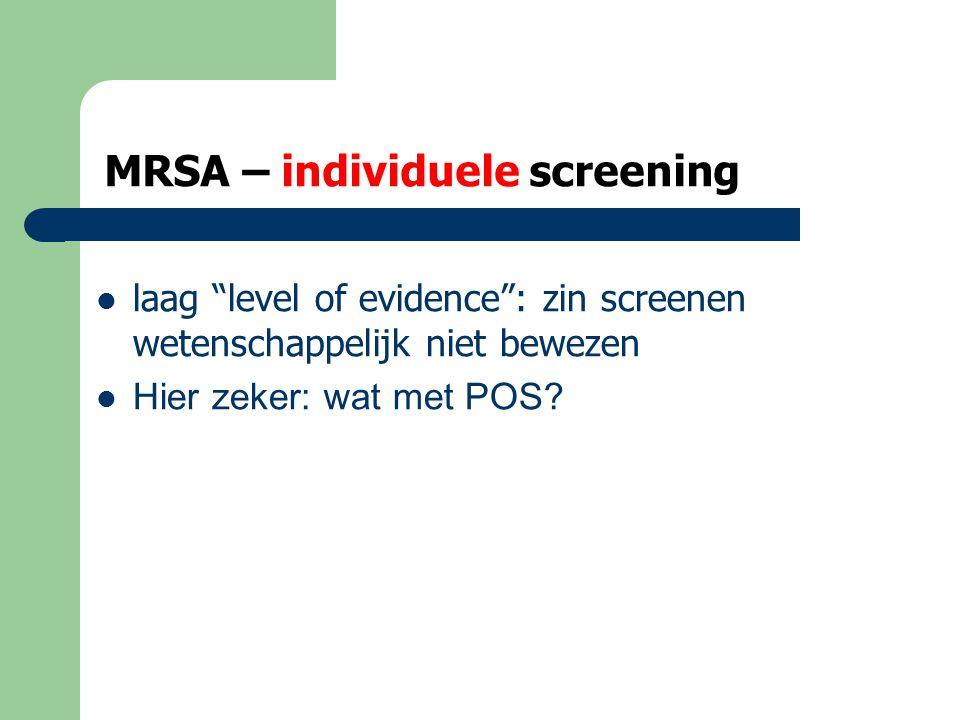 MRSA – wat met de positieven ...