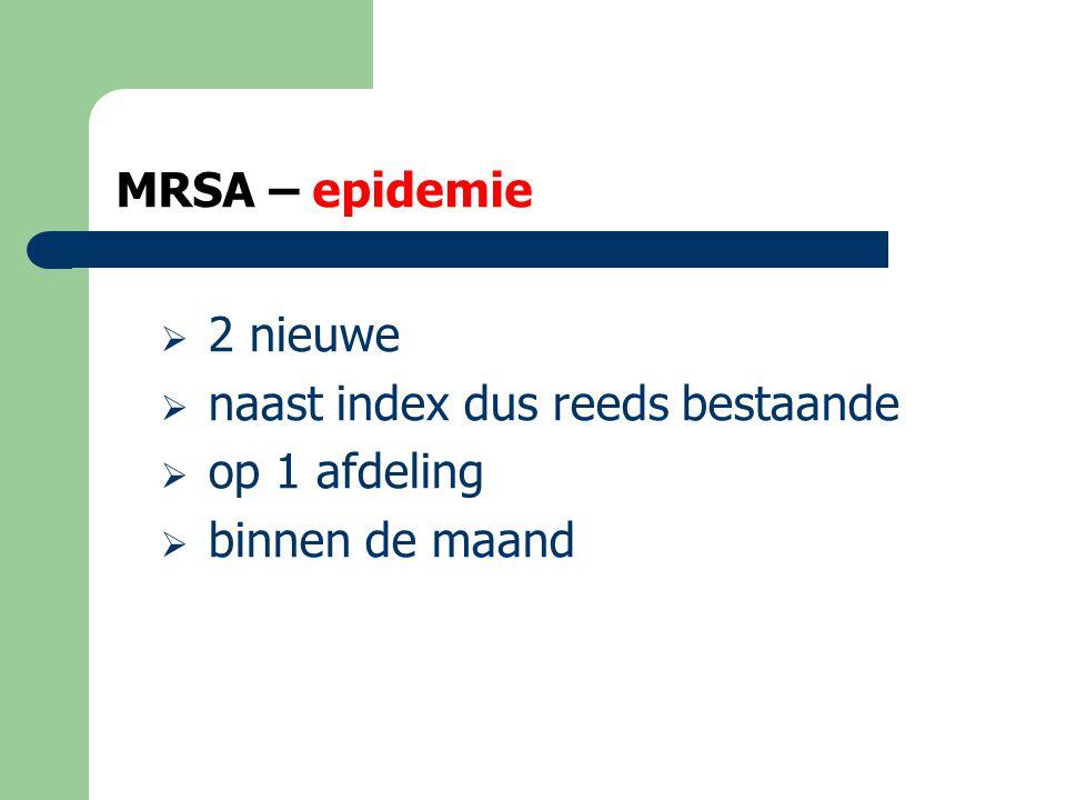 MRSA – epidemie rol CRA  Om een epidemie te kunnen vaststellen dient de CRA de epidemiologische gegevens te registreren  Een goede informatiedoorstroming en samenwerking tussen de CRA en de huisartsen is hierbij noodzakelijk.