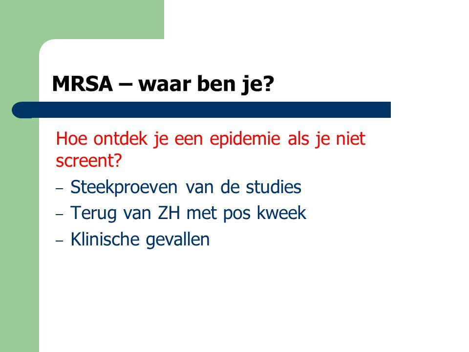 MRSA – waar ben je.