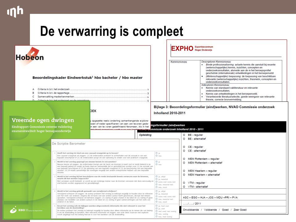 Beoordelingscriteria (standaarden) van de Commissie (1) 1.Vinden we onderstaande componenten terug in het afstudeerproject.