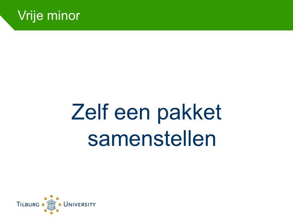 TSB minors Minor Toegepaste Sociale Psychologie •Attitudes and Communication •Consumer Behavior •Organizational Psychology
