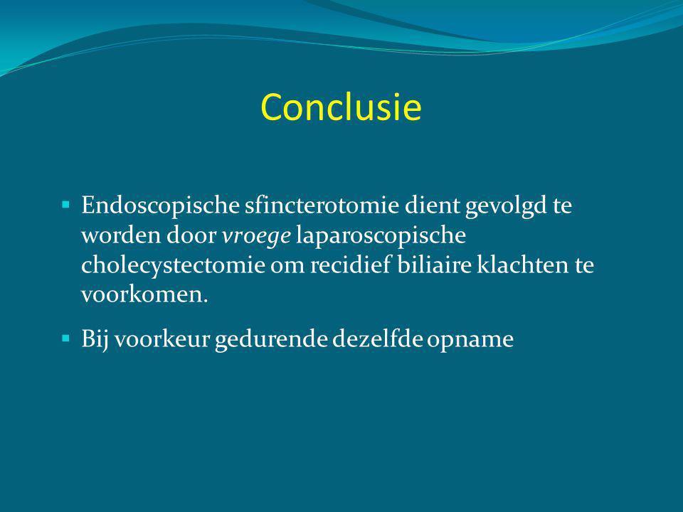 Biliaire pancreatitis (Mild) 1.Is lap chol geindiceerd: JA, risico op recidief 20-30% 2.
