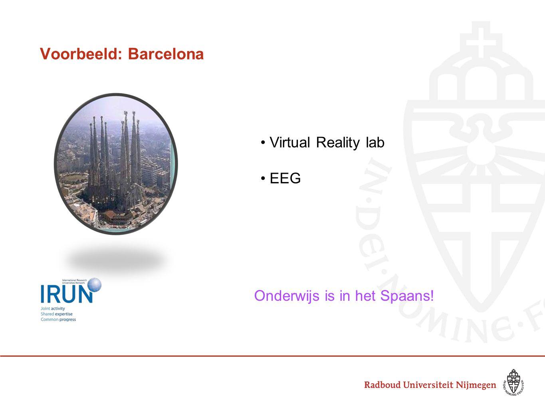 Voorbeeld: Barcelona • Virtual Reality lab • EEG Onderwijs is in het Spaans!