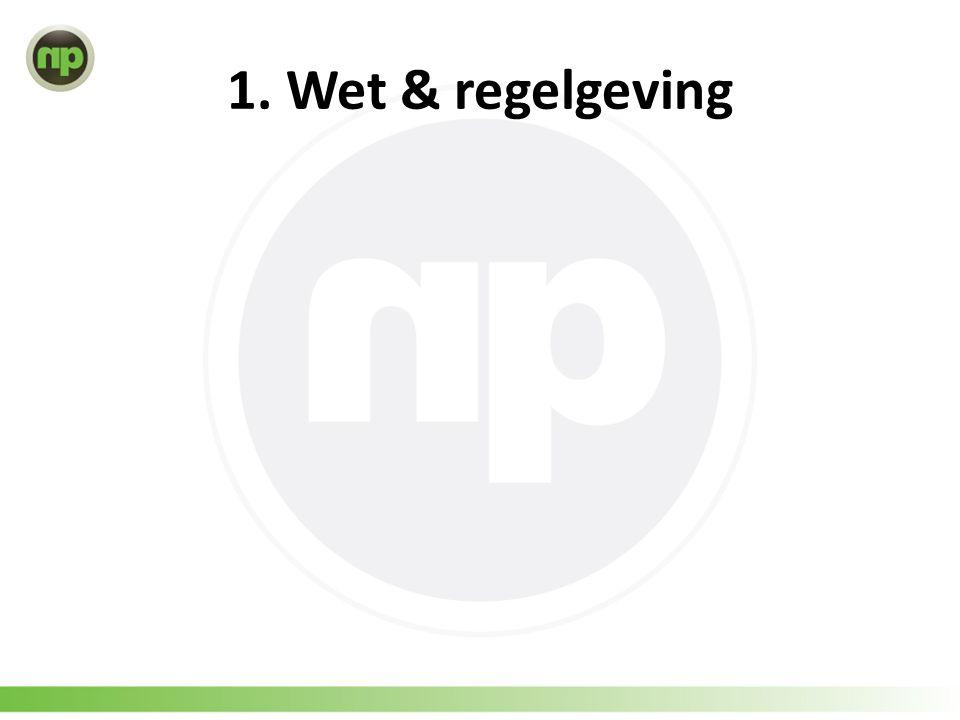 1. Wet & regelgeving