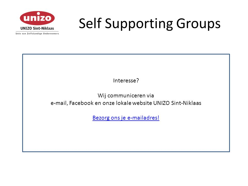 Self Supporting Groups Interesse.