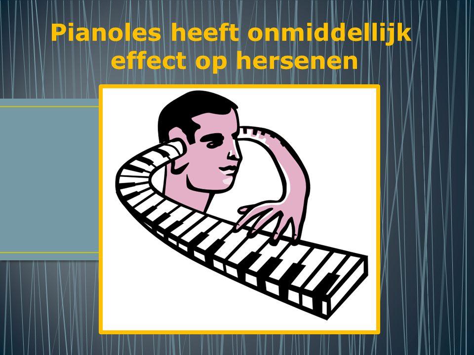 Pianoles heeft onmiddellijk effect op hersenen