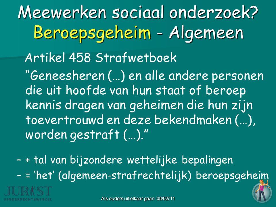 Meewerken sociaal onderzoek.