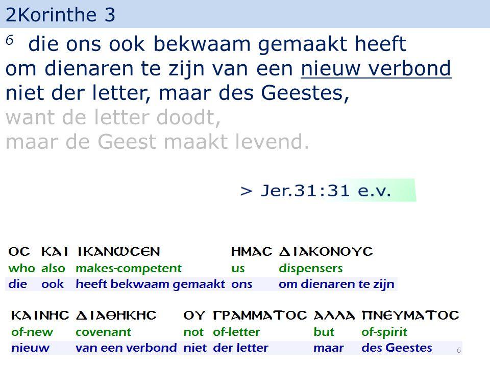 2Korinthe 3 18 En wij allen, die met een aangezicht, waarop geen bedekking meer is, de heerlijkheid des Heren weerspiegelen (...) 37