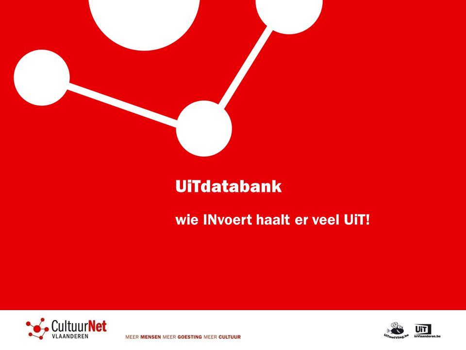 UiTdatabank wie INvoert haalt er veel UiT!