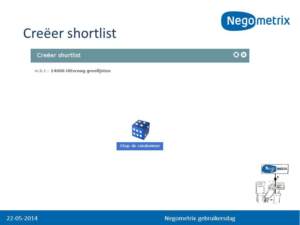 22-05-2014 Negometrix gebruikersdag Creëer shortlist