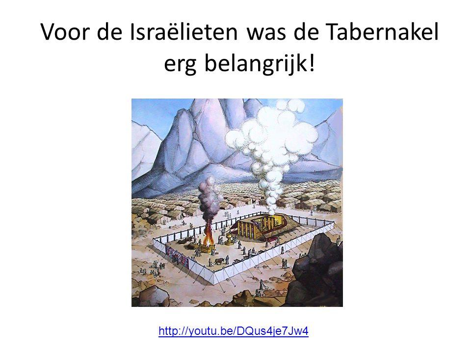 Voor de Israëlieten was de Tabernakel erg belangrijk! http://youtu.be/DQus4je7Jw4