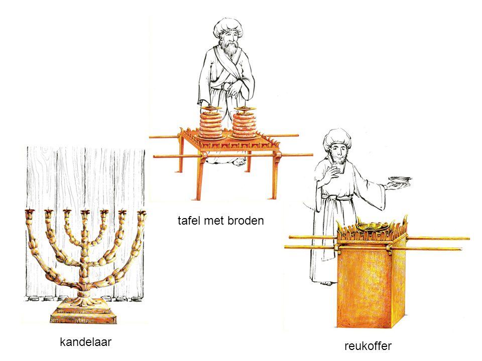 kandelaar tafel met broden reukoffer