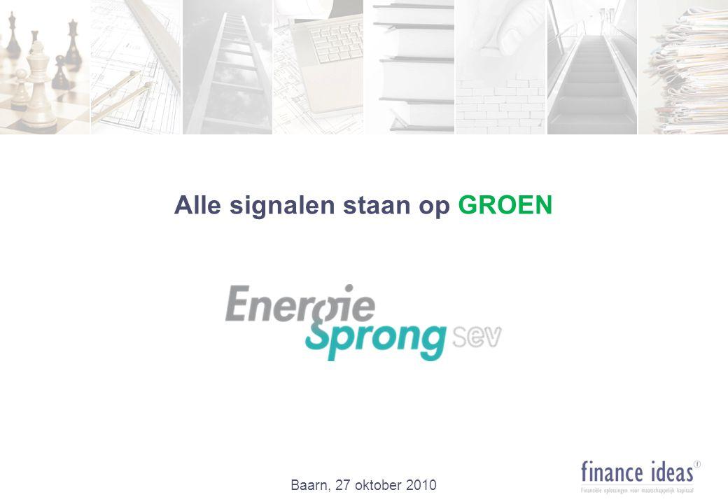 Alle signalen staan op GROEN Baarn, 27 oktober 2010