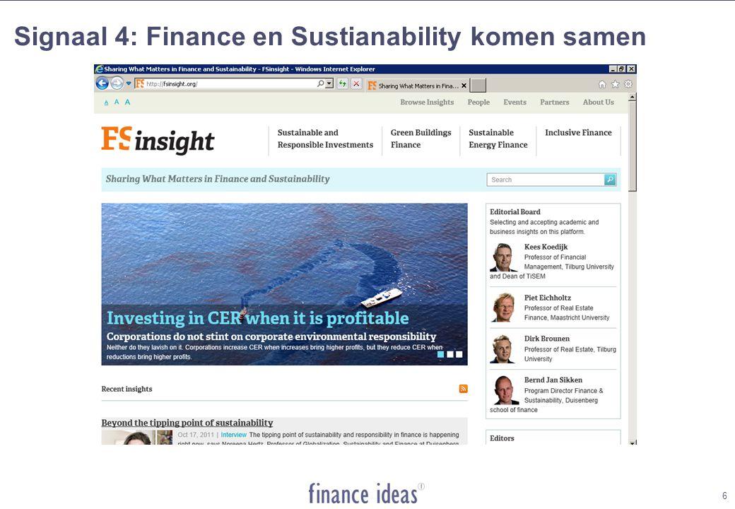 Signaal 4: Finance en Sustianability komen samen 6