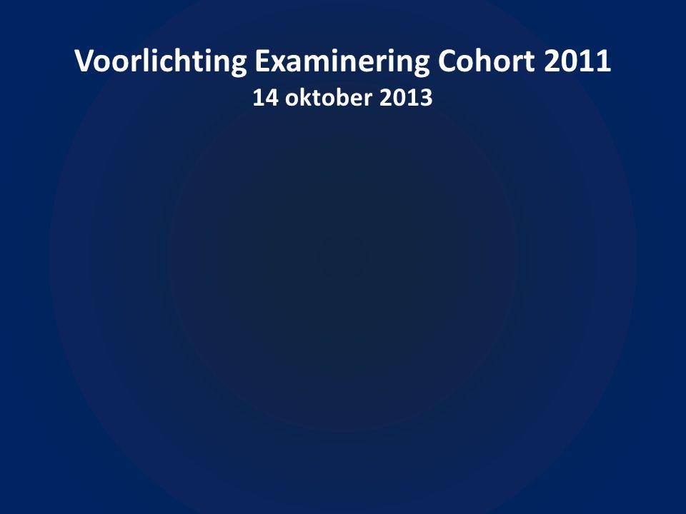 Voorlichting Examinering Cohort 2011 14 oktober 2013