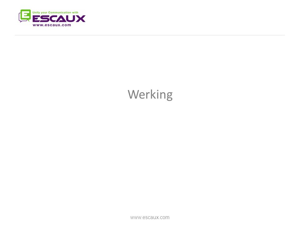 Werking www.escaux.com