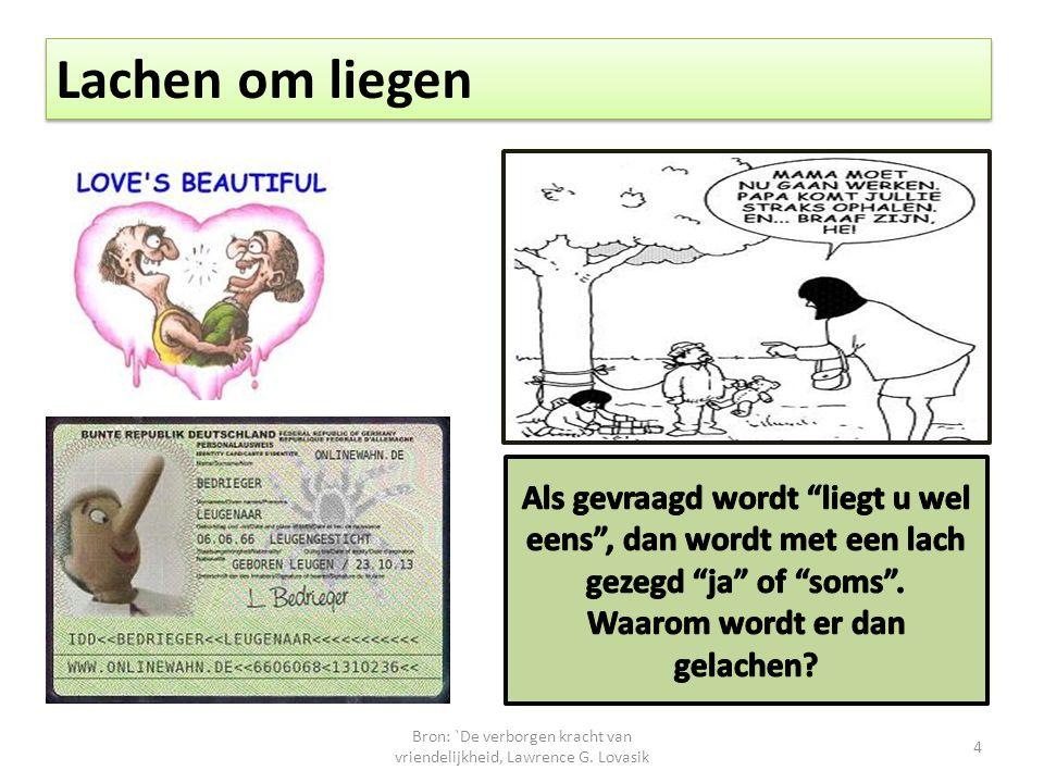 Bron: `De verborgen kracht van vriendelijkheid, Lawrence G. Lovasik 4 Lachen om liegen