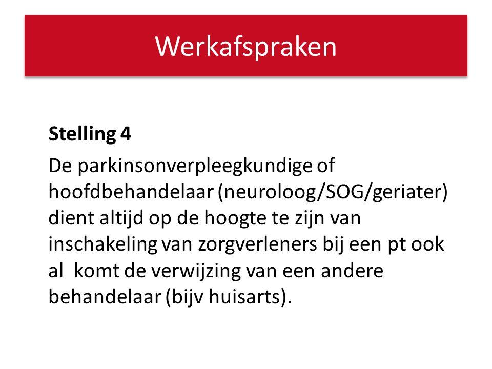 Stelling 5 Voor het goed afstemmen van multidisciplinaire zorg is altijd een zorgcoördinator nodig.