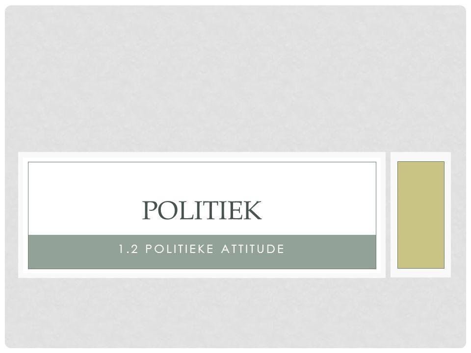 1.2 POLITIEKE ATTITUDE POLITIEK