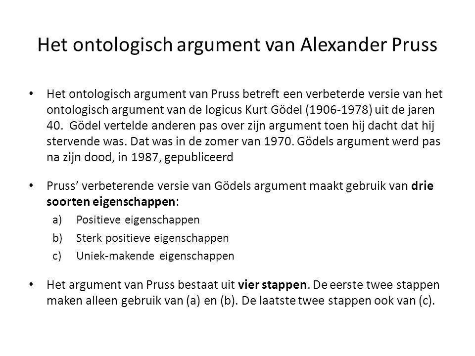 Het ontologisch argument van Alexander Pruss • Het ontologisch argument van Pruss betreft een verbeterde versie van het ontologisch argument van de lo