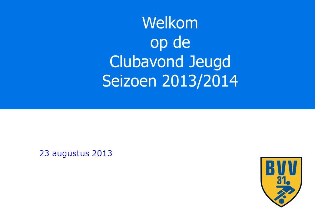 Welkom op de Clubavond Jeugd Seizoen 2013/2014 23 augustus 2013