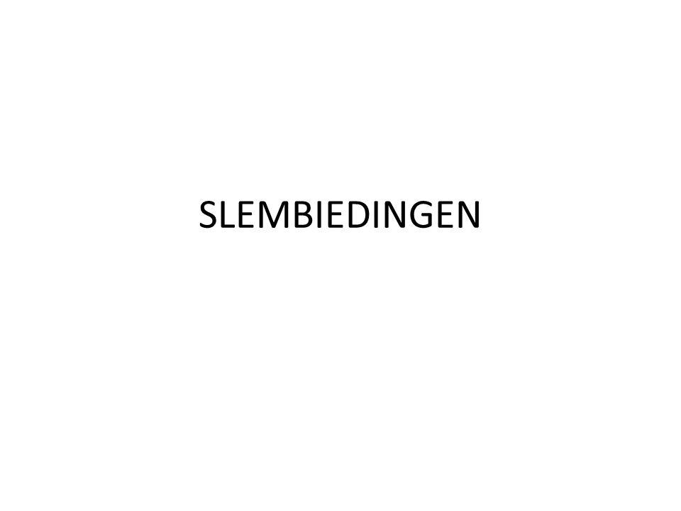 Slem: blackwoodconventie • Principe: • Voor een klein slem heb je 33 punten nodig, voor een groot slem 37 • Uiteraard mag je zowel honneur als distributiepunten tellen • De inleidende biedingen moeten dus al zeker sleminteresse tonen.