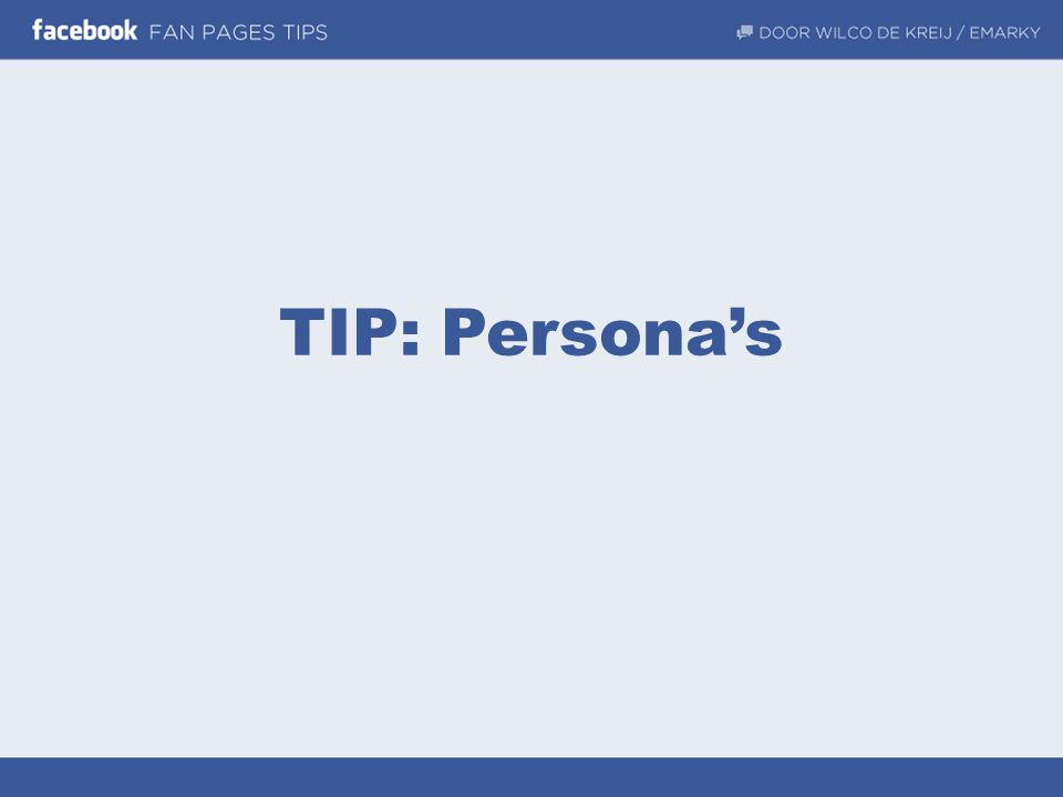 TIP: Persona's