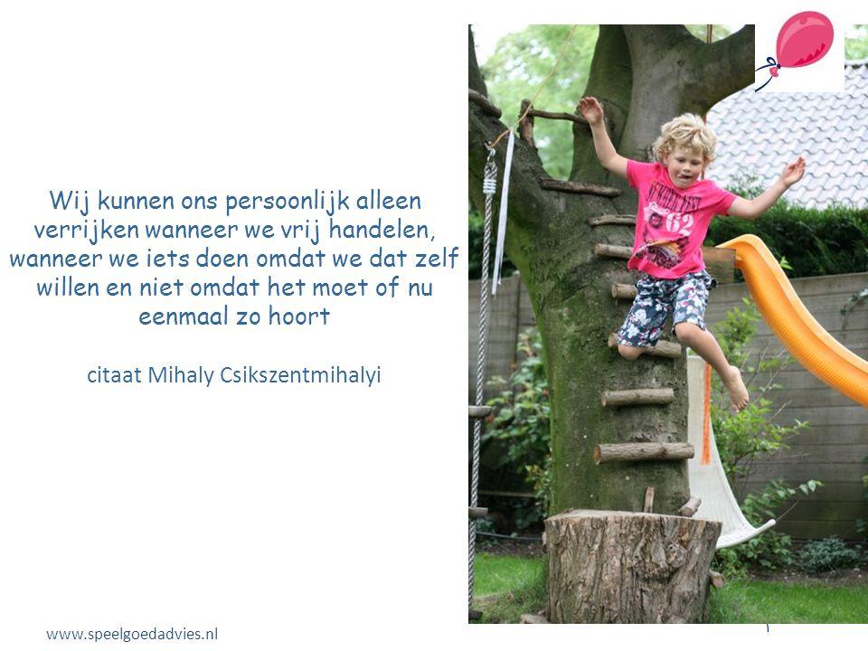 Spelen bestaat uit: • Uitdaging • Nieuwsgierigheid www.speelgoedadvies.nl