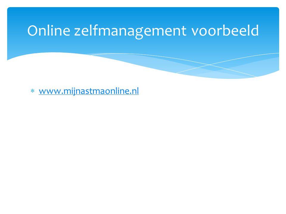  www.mijnastmaonline.nl www.mijnastmaonline.nl Online zelfmanagement voorbeeld