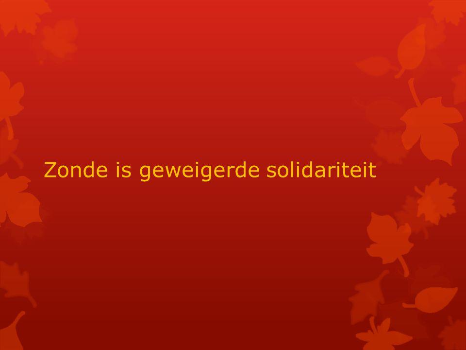 Zonde is geweigerde solidariteit