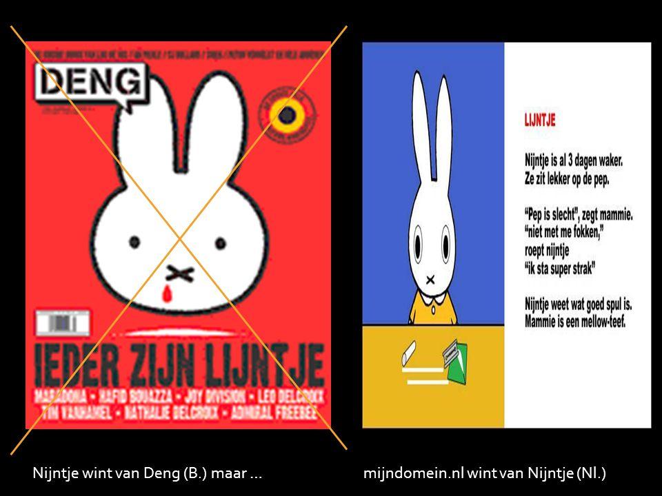Nijntje wint van Deng (B.) maar … mijndomein.nl wint van Nijntje (Nl.)