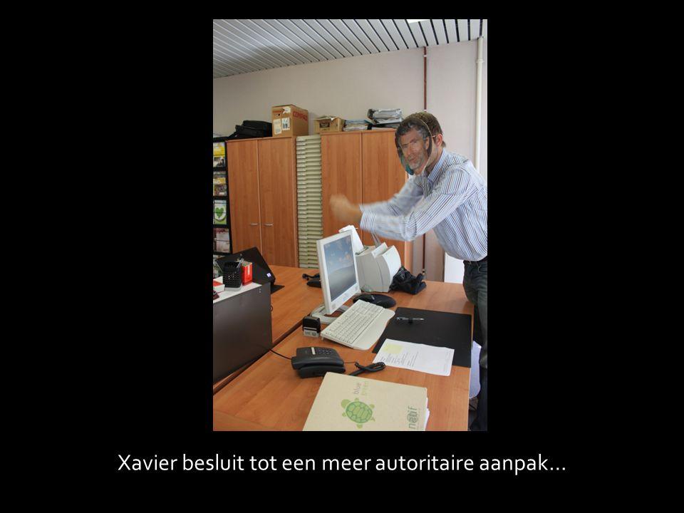 Xavier besluit tot een meer autoritaire aanpak…