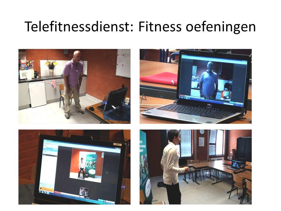 Telefitnessdienst: Fitness oefeningen