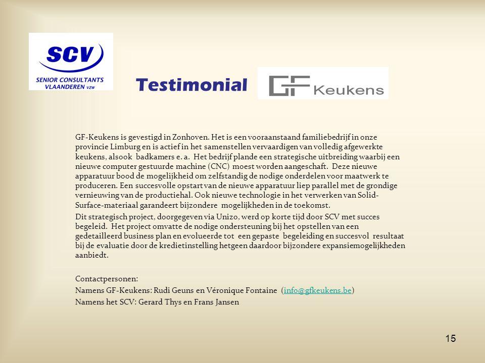 Testimonial GF-Keukens is gevestigd in Zonhoven. Het is een vooraanstaand familiebedrijf in onze provincie Limburg en is actief in het samenstellen ve
