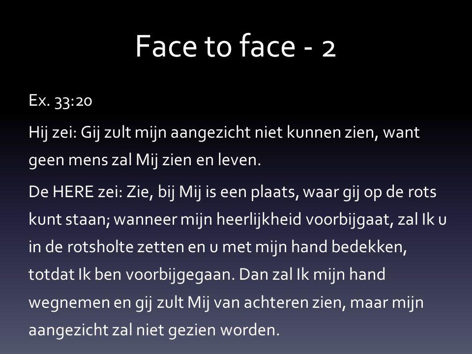 Face t0 face - 2 Ex.