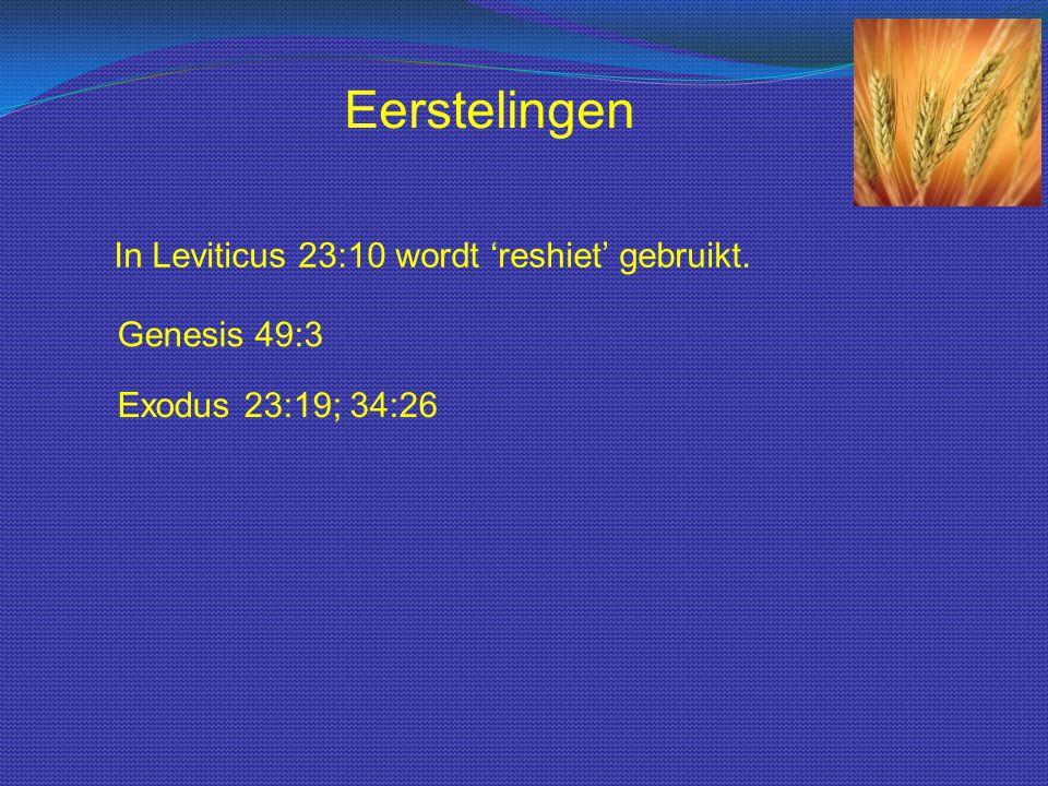 De dag na de sabbath Iom Habbikoeriem markeert een nieuw begin. Eerstelingen