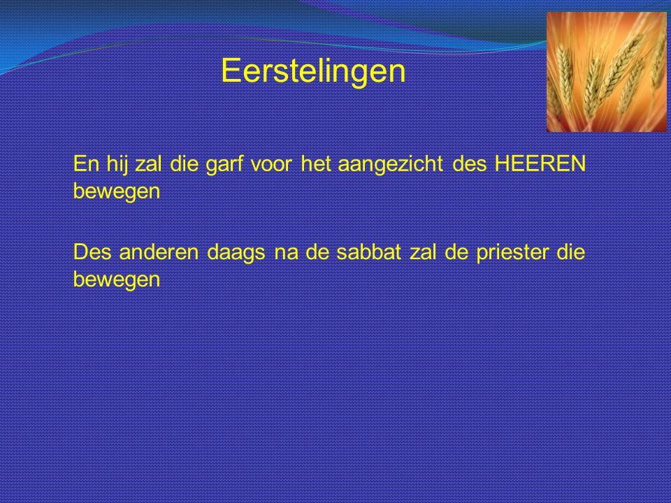 Beweegoffer De garf moest voor de Heere bewogen worden.
