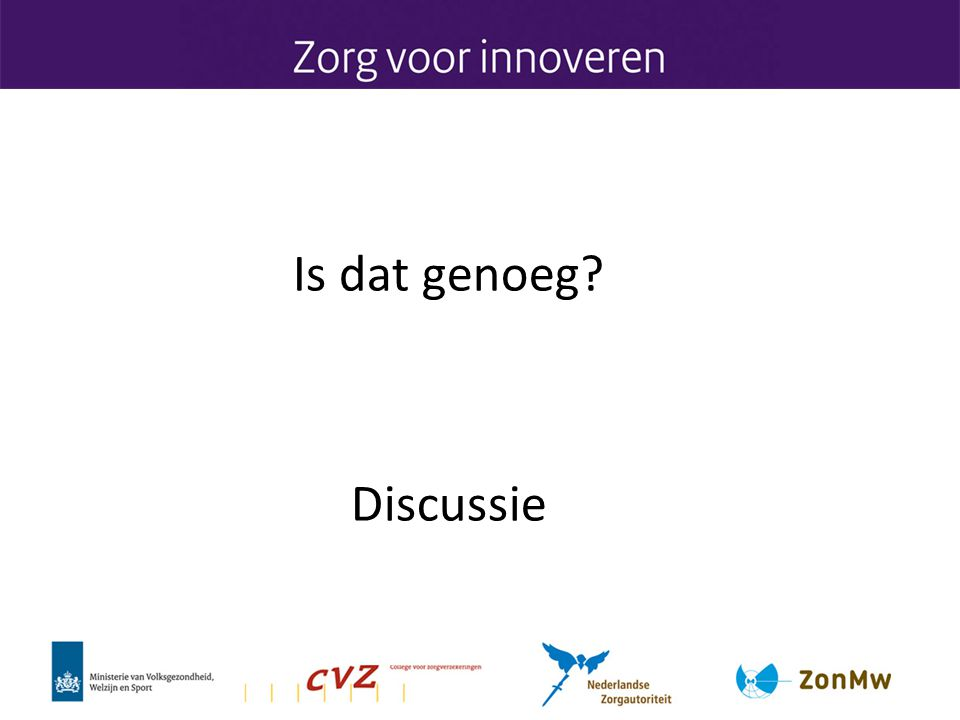 Is dat genoeg? Discussie
