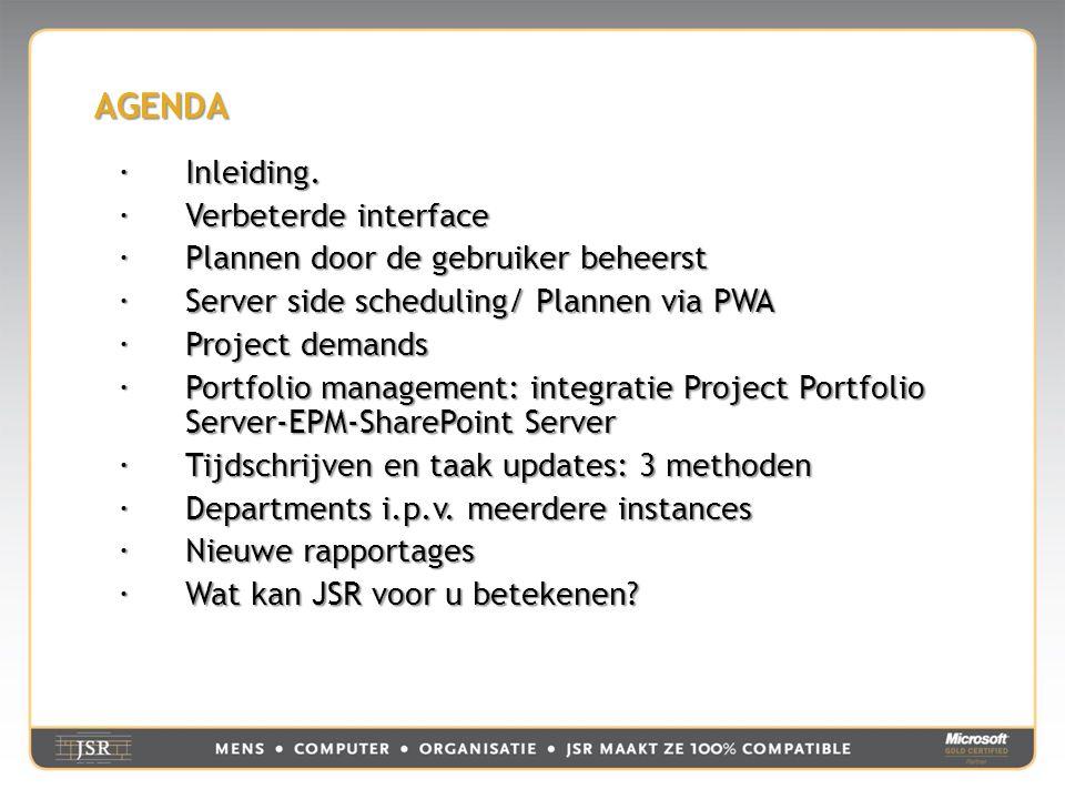 UW PLANNINGEN BEWERKEN Werkt als Project Professional