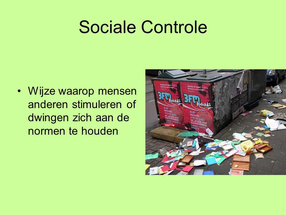 Internalisatie •Als mensen zich de culturele normen hebben eigen gemaakt.