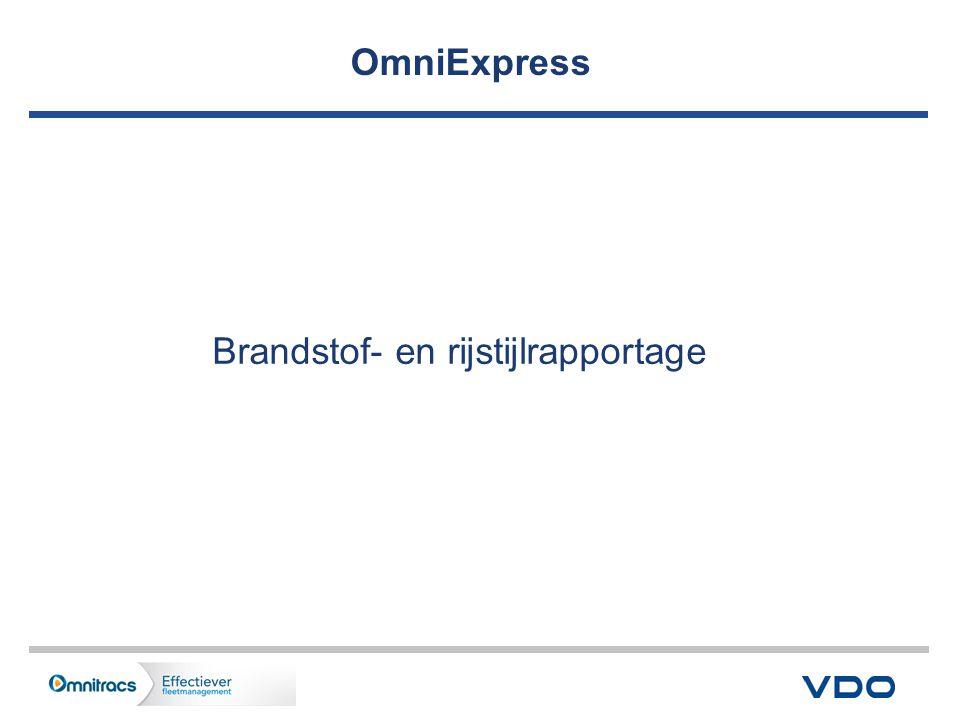 OmniExpress Brandstof- en rijstijlrapportage