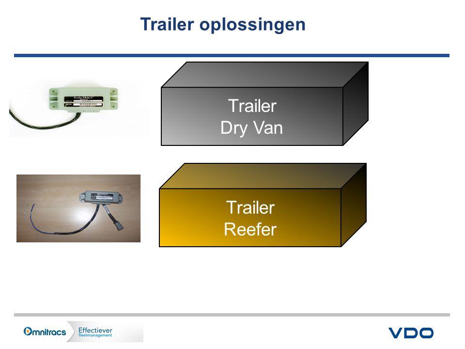 Trailer oplossingen Trailer Dry Van Trailer Reefer