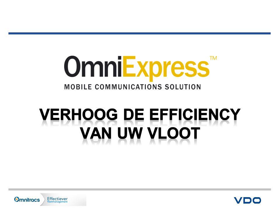 OmniExpress functionaliteiten Rij- en Rusttijden RTDS Vragenpad Navigatie Posities Geo Fencing Berichten